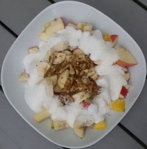 Obstsalat in Kokosmilch
