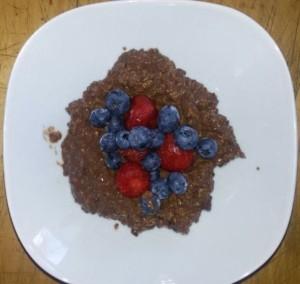 Soja-Schoko-Porridge